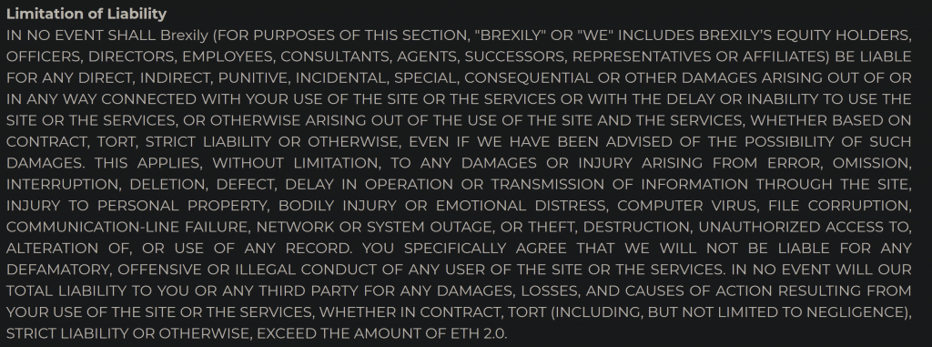 Another idiotic disclaimer