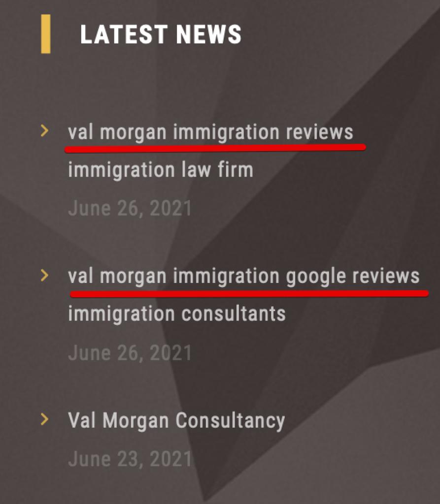 Val Morgan Immigration reviews