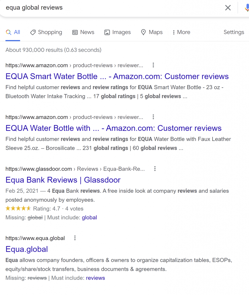 equa global review
