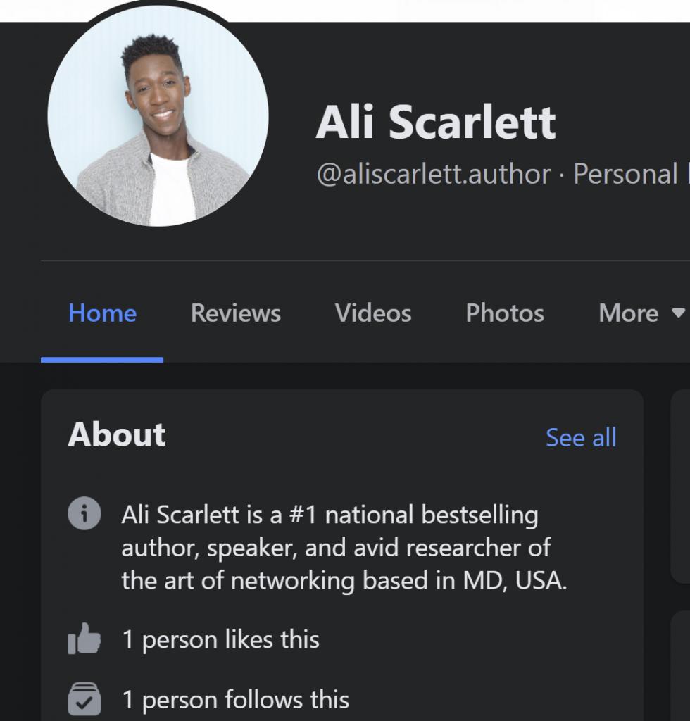 Ali Scarlett facebook